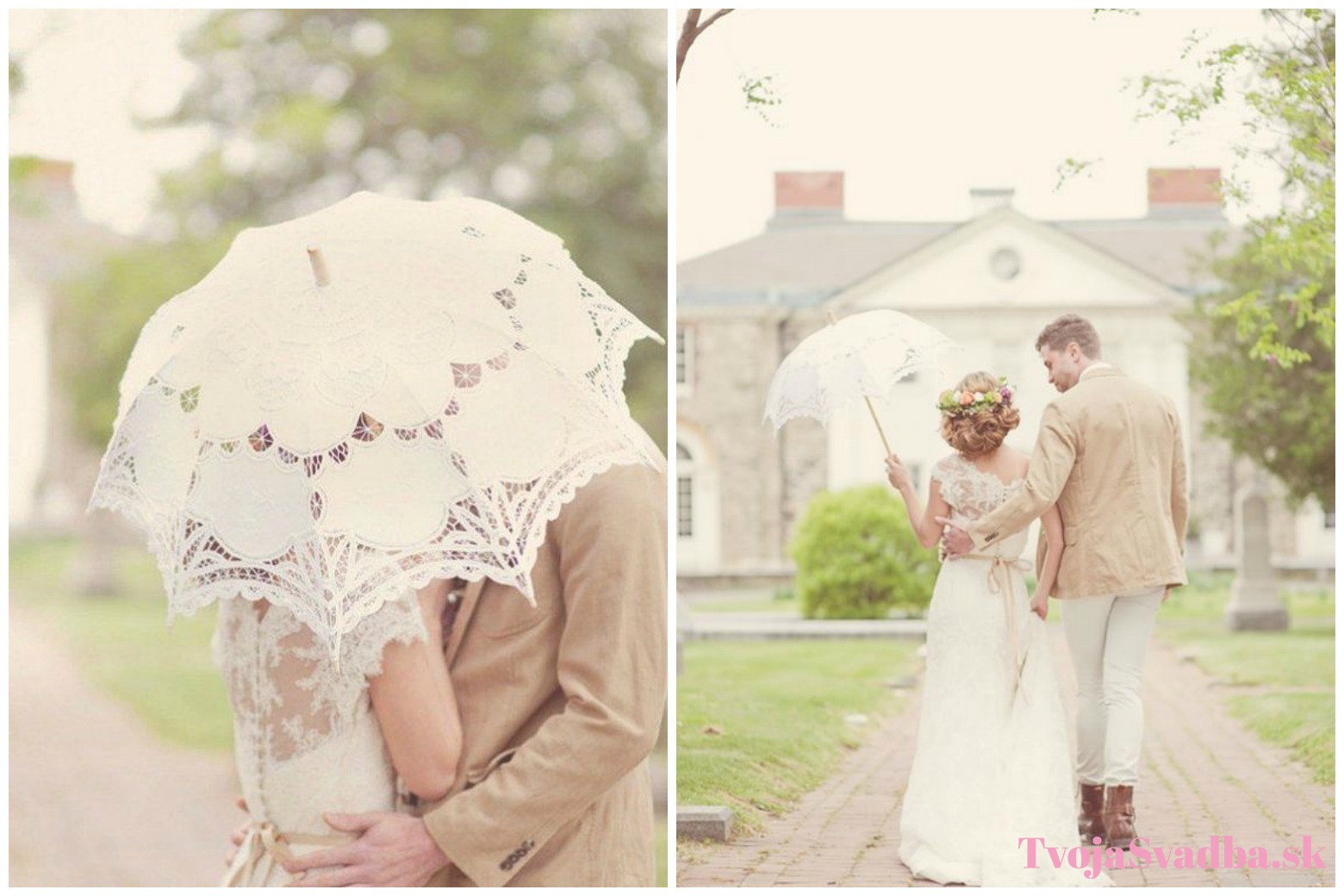 746314deed7a5 Svadobný dáždnik: Romantický doplnok pre tvoje fotenie - TvojaSvadba.sk