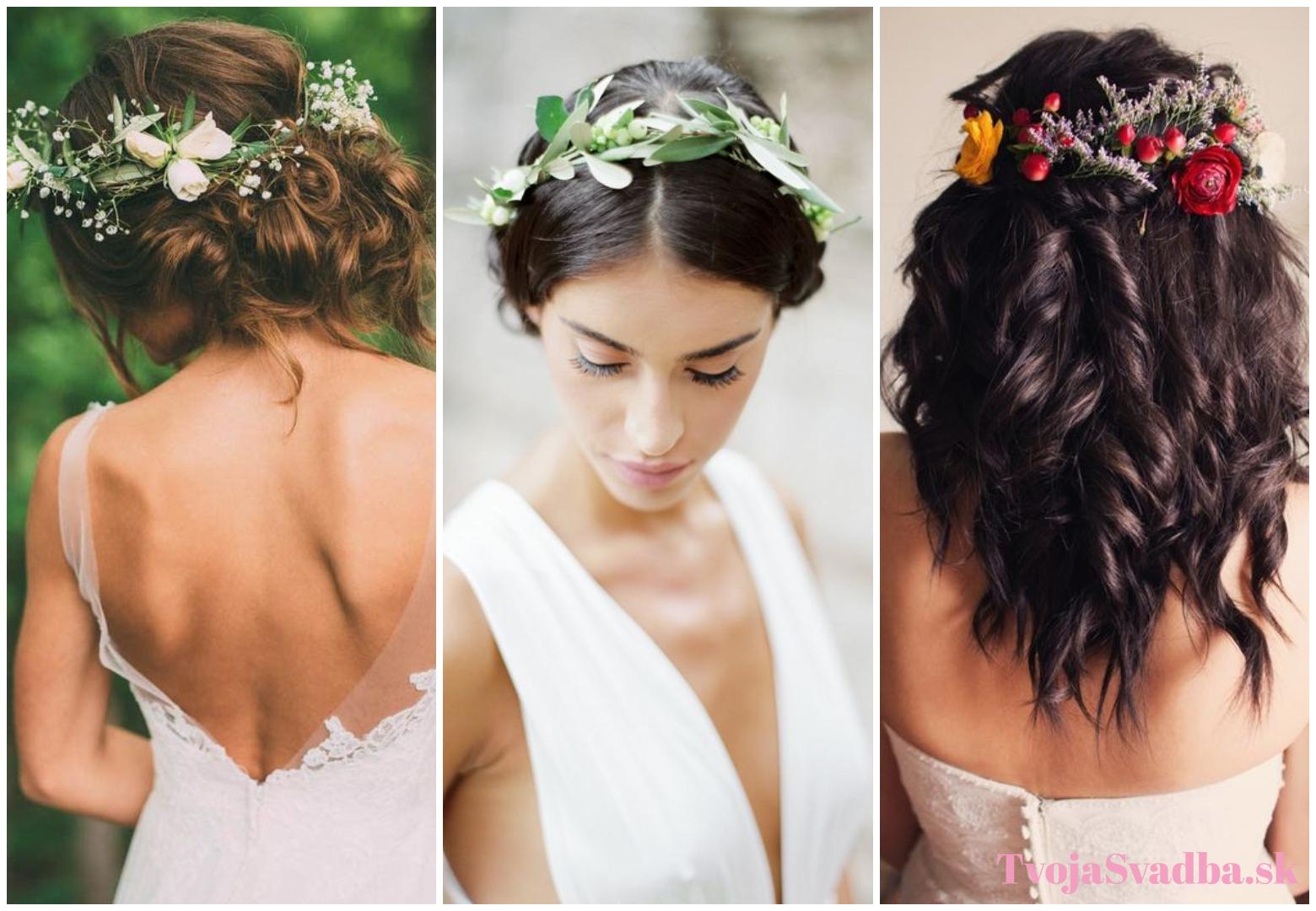 8f308ccf3 Kvety vo vlasoch či minimalistický drdol? Vyber si svoj svadobný ...