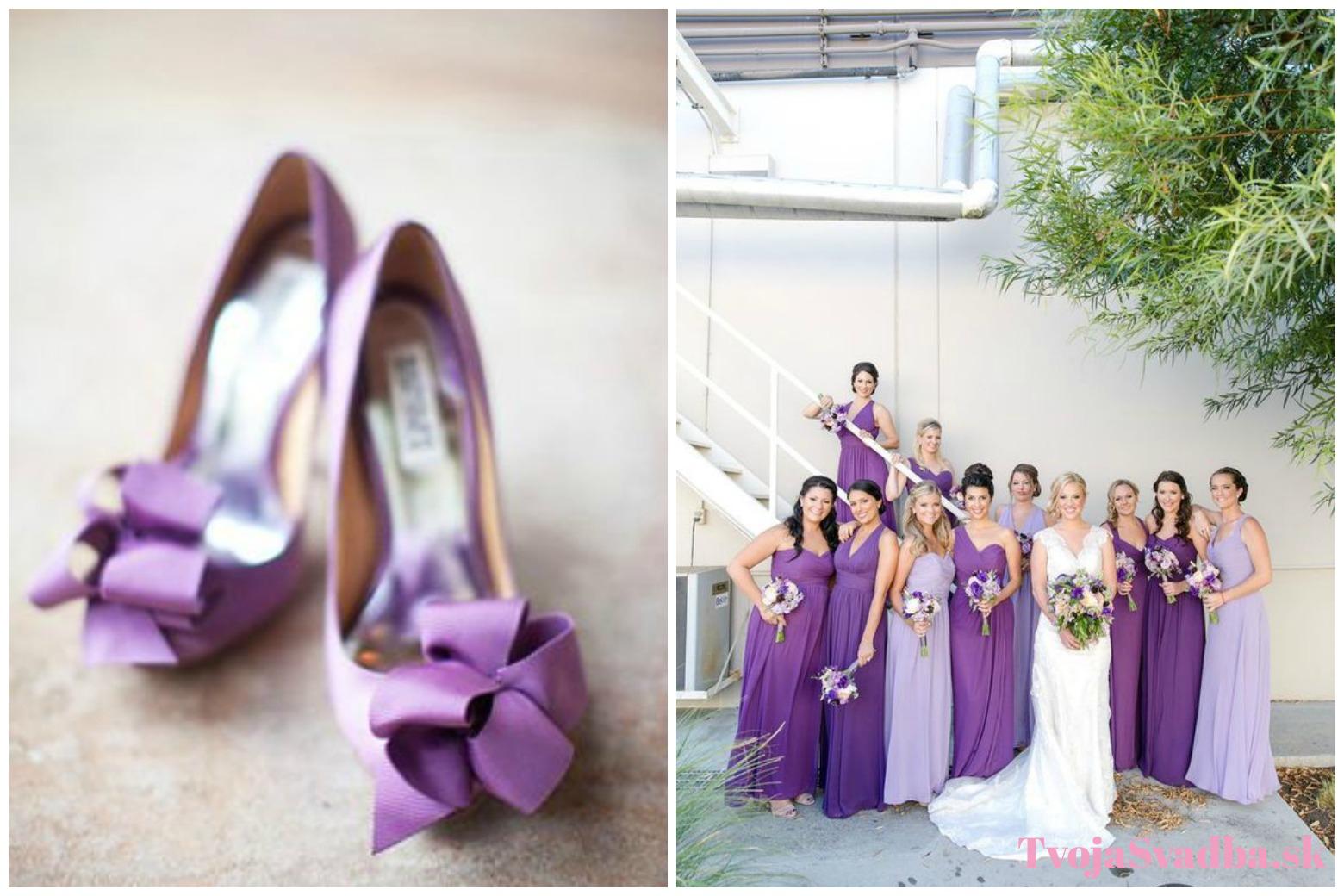d17f9f22e951 Svadba vo fialových tónoch  Výrazná kombinácia pre odvážnu nevestu ...