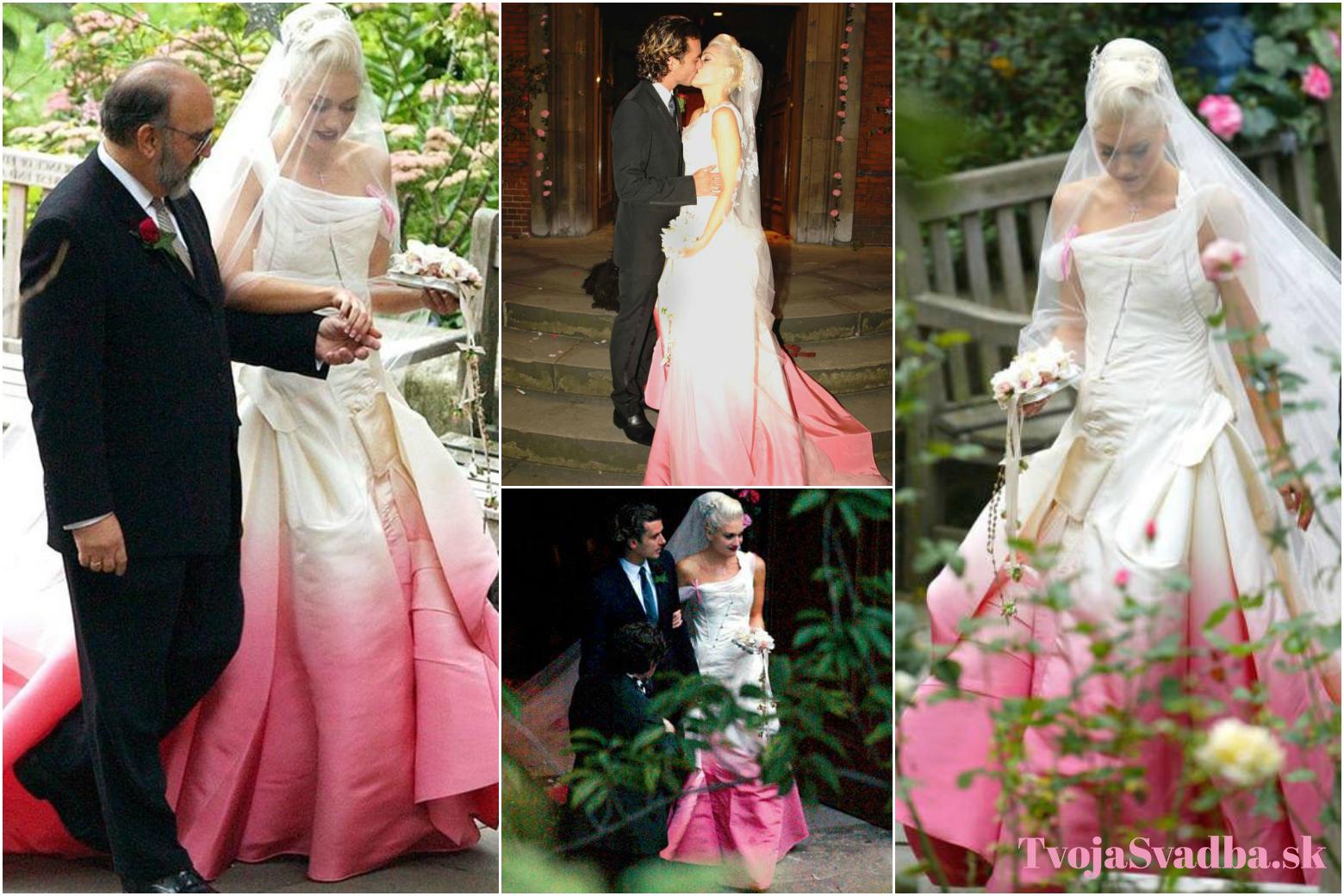 0bc40a5b0b05 Farebné svadobné šaty celebrít  Pretože svadba nemusí byť len biela ...